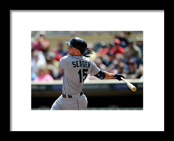 American League Baseball Framed Print featuring the photograph Seattle Mariners V Minnesota Twins 1 by Hannah Foslien