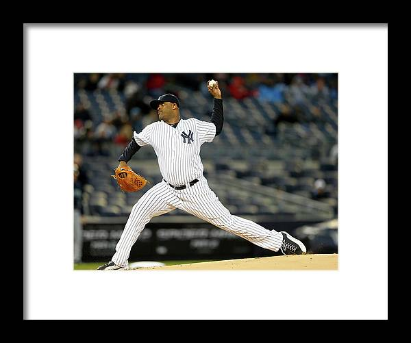 American League Baseball Framed Print featuring the photograph Seattle Mariners V New York Yankees 1 by Elsa