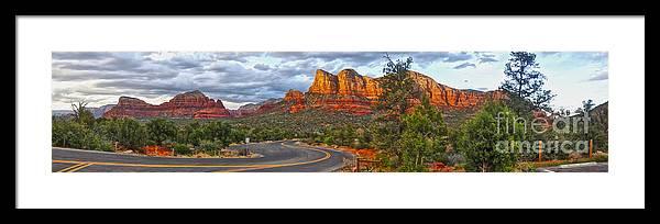Sedona Arizona Framed Print featuring the photograph Sedona Arizona Panorama by Gregory Dyer