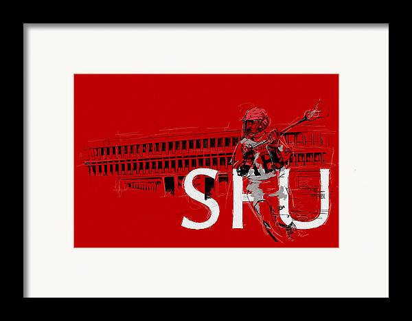 Sports Framed Print featuring the painting Sfu Art by Catf