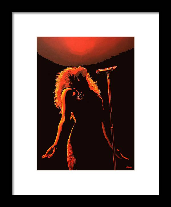 Shakira Framed Print featuring the painting Shakira by Paul Meijering