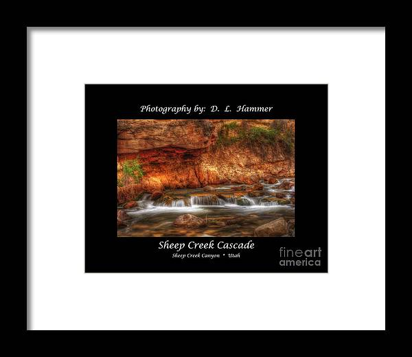 Sheep Creek Canyon Framed Print featuring the photograph Sheep Creek Cascade by Dennis Hammer