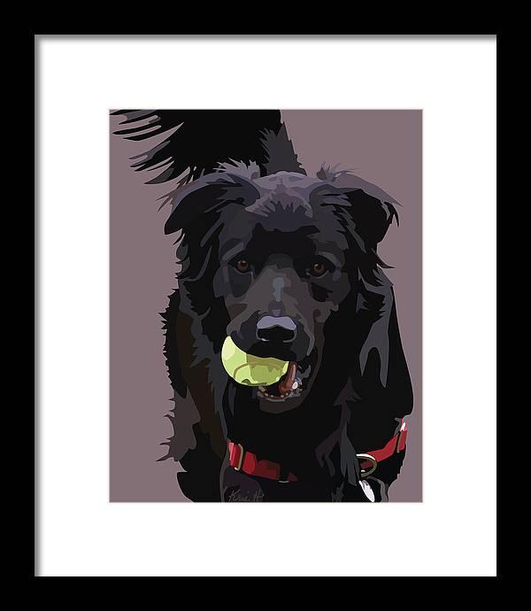 Shelter Dog Framed Print featuring the digital art Sheltered II by Kris Hackleman