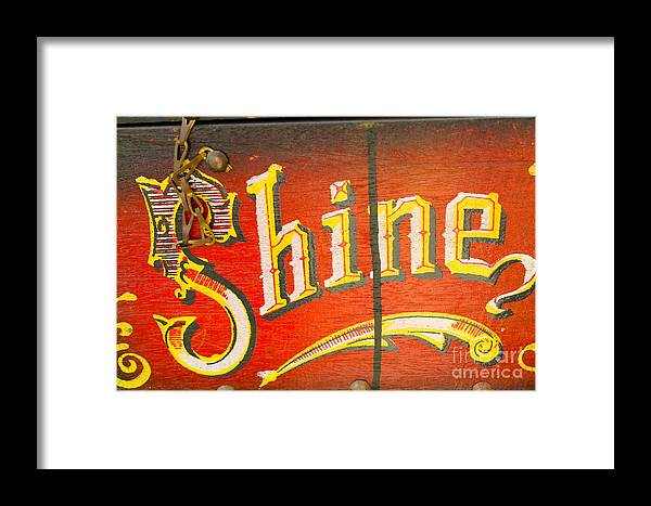 Shoe Framed Print featuring the photograph Shoe Shine Kit by Pamela Walrath