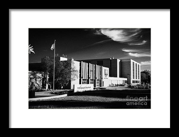 Siast Framed Print featuring the photograph siast Saskatchewan polytechnic kelsey campus saskatoon Canada by Joe Fox