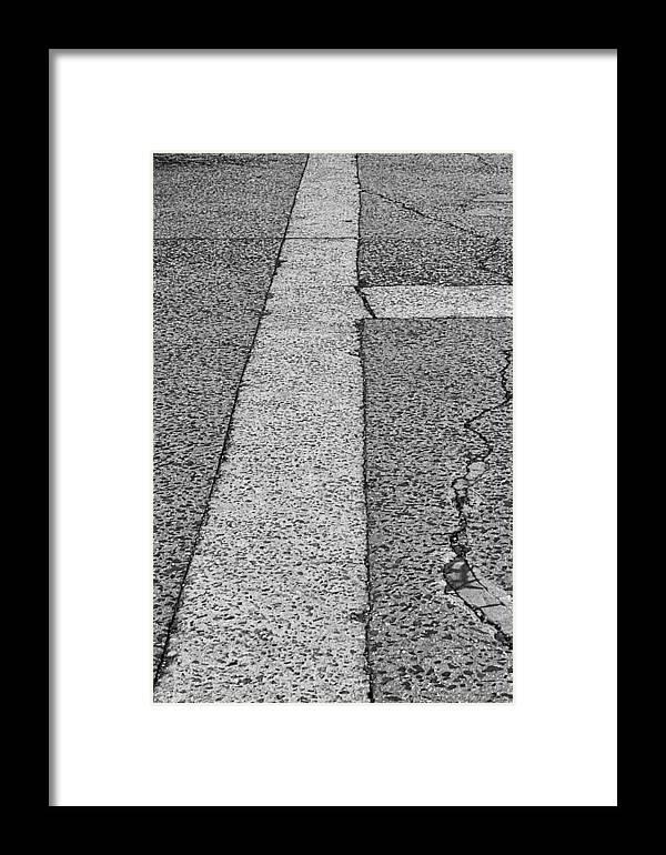 Sidewalk Framed Print featuring the photograph Sidewalk by Robert Ullmann