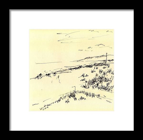 Ink Framed Print featuring the drawing Sketch by Karina Plachetka