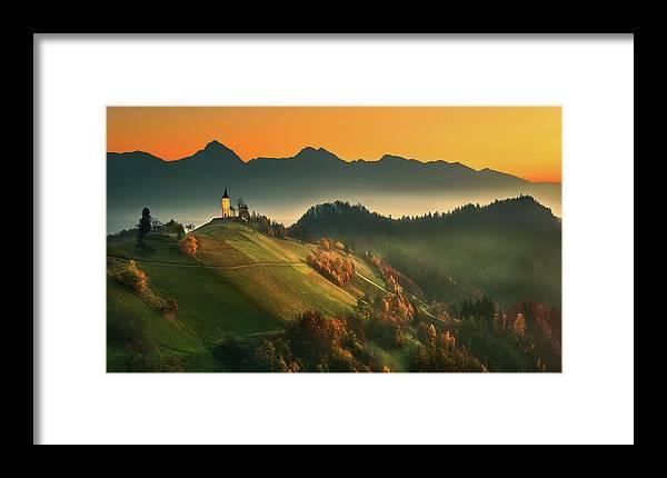 Slovenia Framed Print featuring the photograph Slovenian Autumn... 1 by Krzysztof Browko