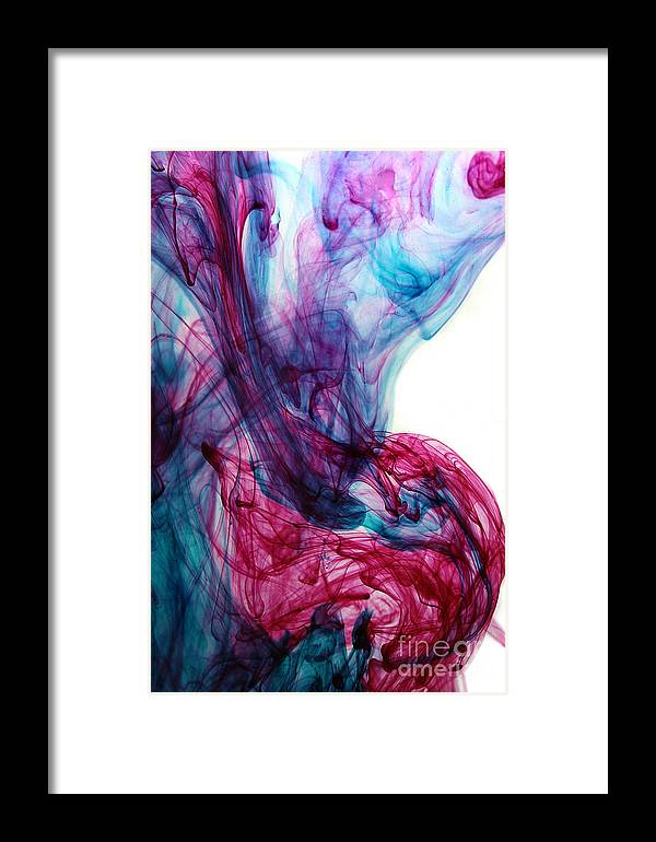 Framed Print featuring the mixed media Smoke Art by Dt