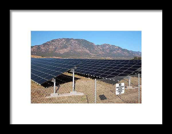Equipment Framed Print featuring the photograph Solar Array On Landfill Site by Jim West