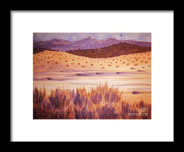 Landscape Framed Print featuring the painting Solitude by Suzanne McKay
