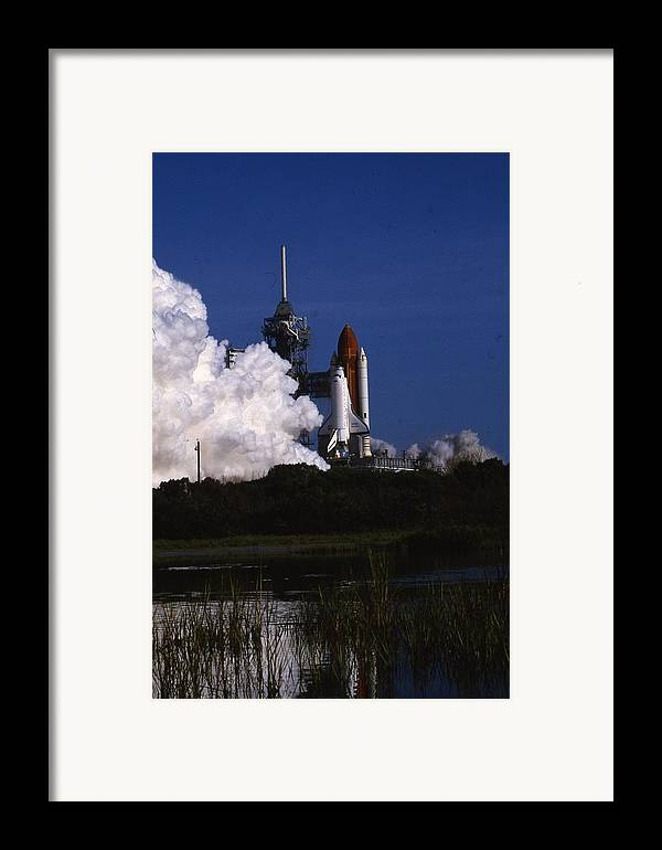 Retro Images Archive Framed Print featuring the photograph Space Shuttle Challenger by Retro Images Archive