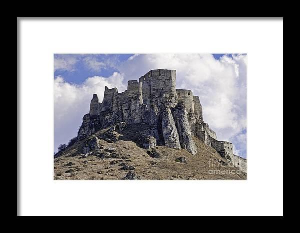 Castle Framed Print featuring the photograph Spissky Hrad Castle by Les Palenik