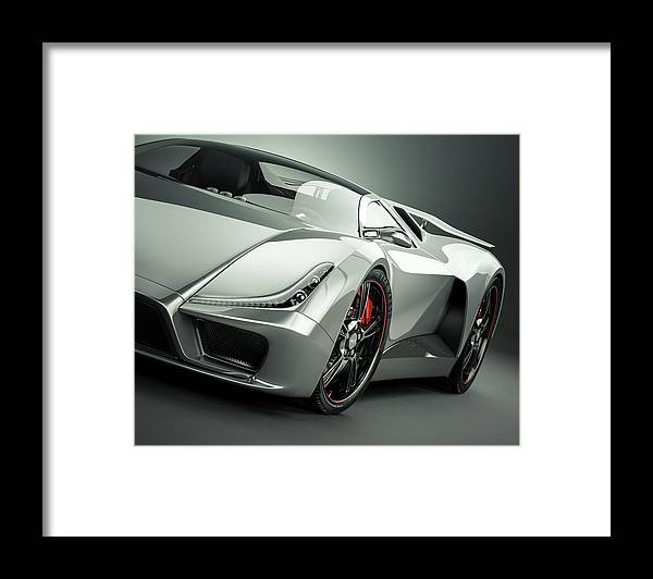 Aerodynamic Framed Print featuring the photograph Sports Car by Mevans