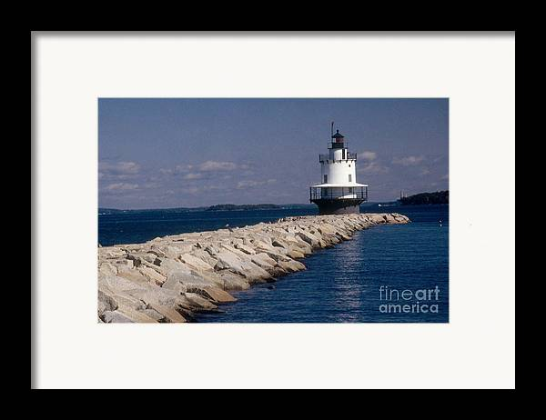 Lighthouse Framed Print featuring the photograph Spring Point Ledge Lighthouse by Bruce Roberts