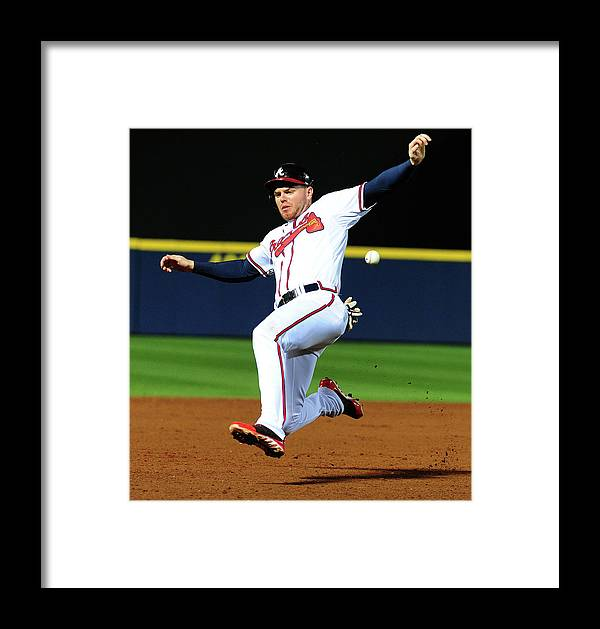Atlanta Framed Print featuring the photograph St. Louis Cardinals V Atlanta Braves by Scott Cunningham