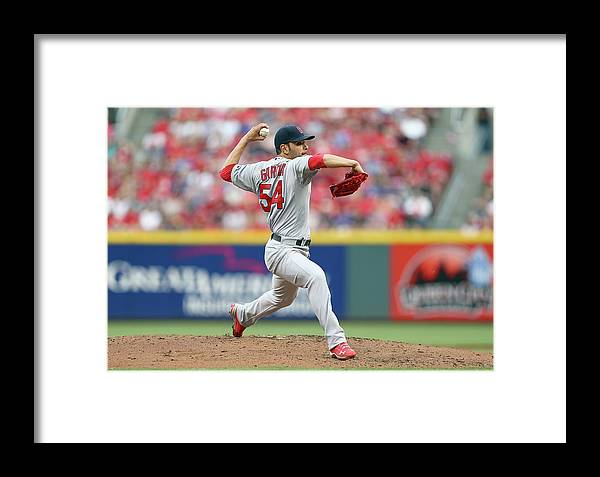 Great American Ball Park Framed Print featuring the photograph St Louis Cardinals V Cincinnati Reds 1 by Andy Lyons