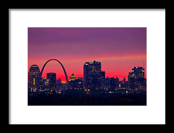 St Louis Framed Print featuring the photograph St Louis Sunset by Garry McMichael