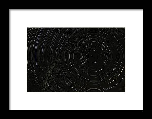 Framed Print featuring the photograph Star Trails 2 by Michael Trammell