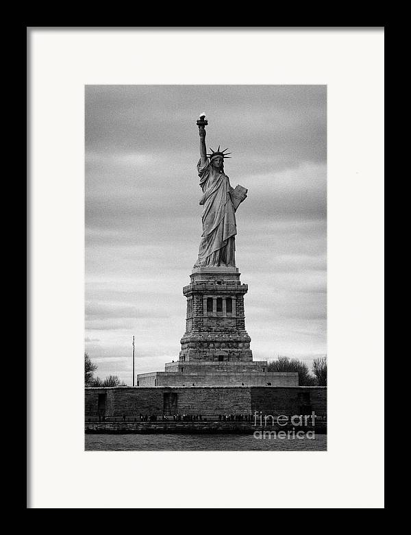 Usa Framed Print featuring the photograph Statue Of Liberty Liberty Island New York City by Joe Fox