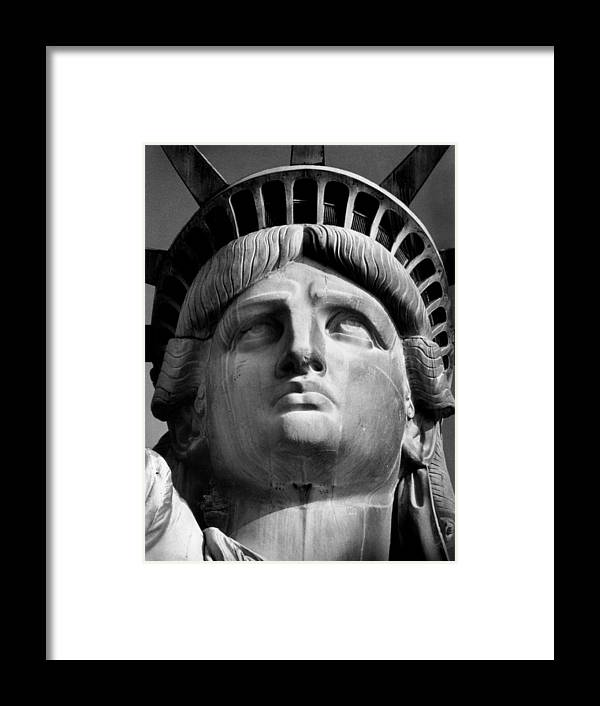 Aegis Framed Print featuring the photograph Statue of Liberty by Retro Images Archive