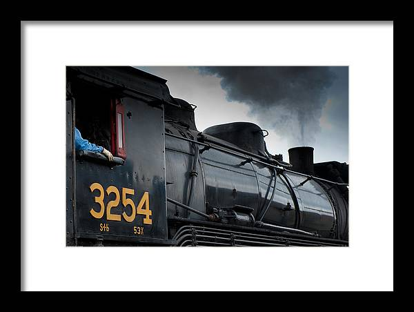 Steam Engine 3254 Framed Print featuring the photograph Steam Power by Robert Klemm