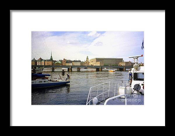 Sweden Framed Print featuring the photograph Stockholm City Harbor by Ted Pollard