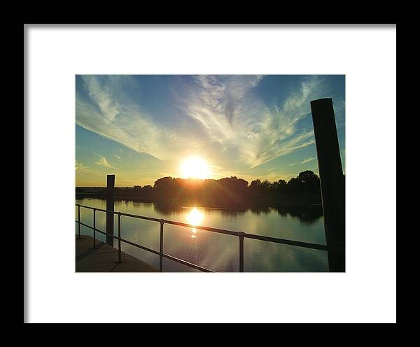 Water Framed Print featuring the photograph Stony Brook Sunset by Hilary Colon