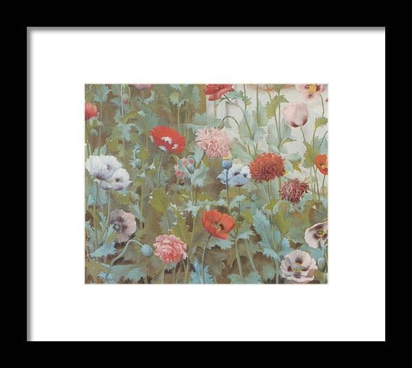 John William Godward Framed Print featuring the digital art Summer Flowers by John William Godward