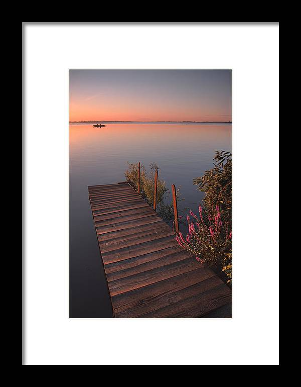 Landscape Framed Print featuring the photograph Summer Morning by Davorin Mance