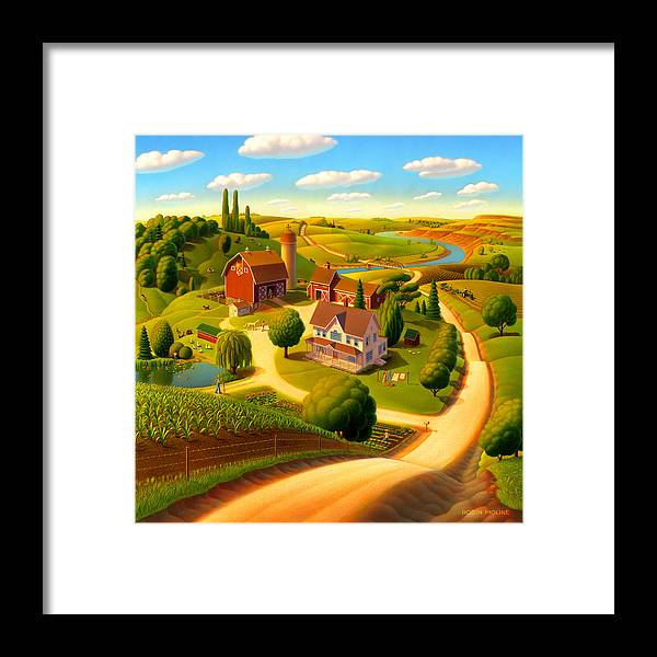 Summer On The Farm Framed Print featuring the painting Summer on the Farm by Robin Moline