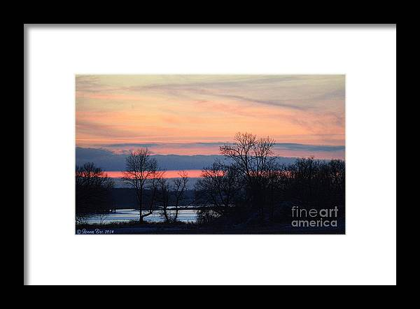 Landscape Framed Print featuring the photograph Sun Down by Rennae Christman