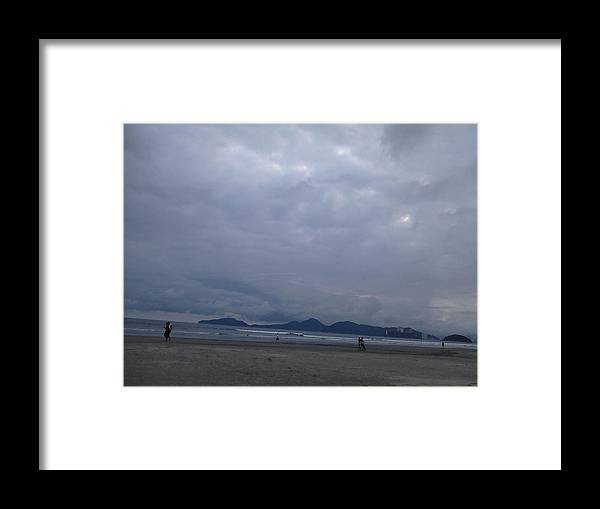 Landscape Framed Print featuring the photograph Sun Through The Clouds by Vera Radoja de Vasconcelos