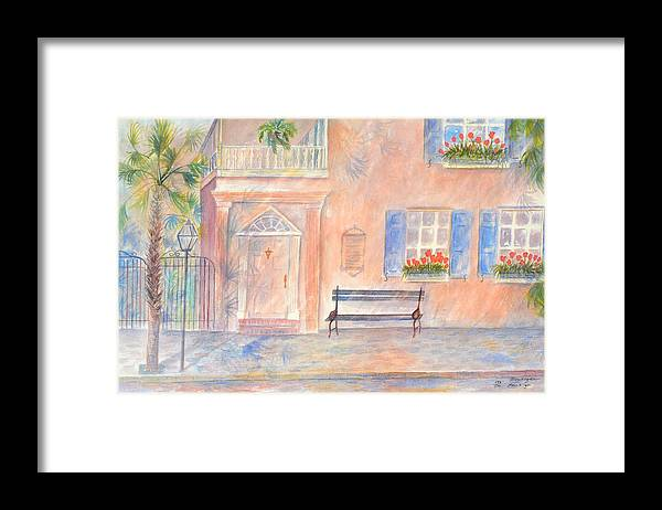 Charleston Framed Print featuring the painting Sunday Morning in Charleston by Ben Kiger