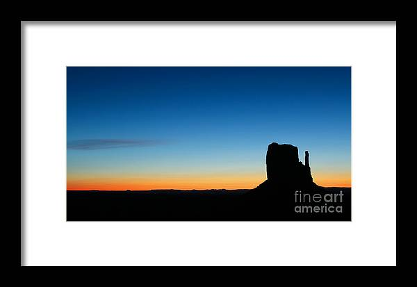 America Framed Print featuring the photograph Sunrise At Monument Valley by Isabel Poulin