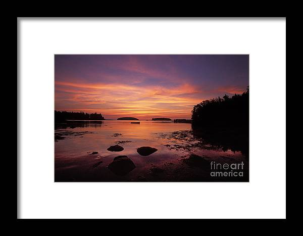 Maine Framed Print featuring the photograph Sunrise At Tenants Harbor by Jim Block