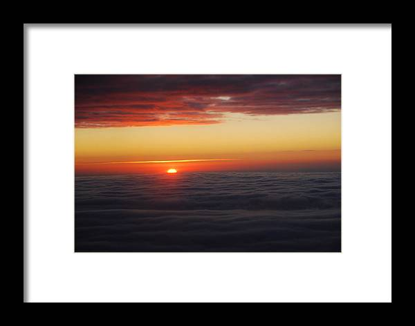Framed Print featuring the photograph Sunset by Eric Armstrong