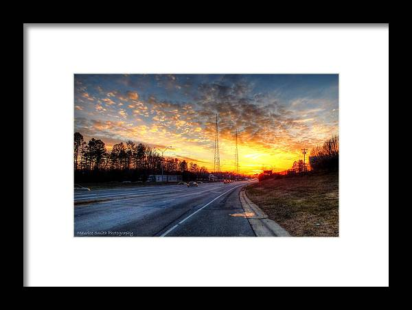 Landscape Framed Print featuring the photograph Sunset In Charlotte by Maurice Smith
