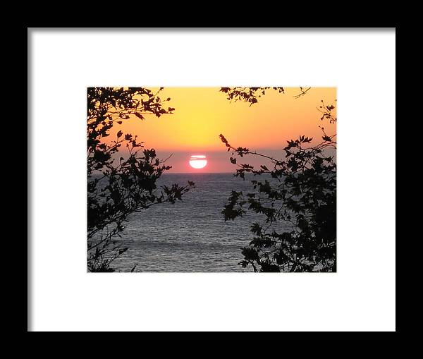 Sunset Framed Print featuring the photograph Sunset In Samothraki by Panos Spiliadis