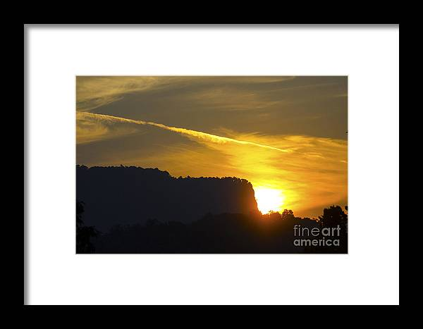 Sunset Framed Print featuring the photograph Sunset In The Hills by Pravine Chester
