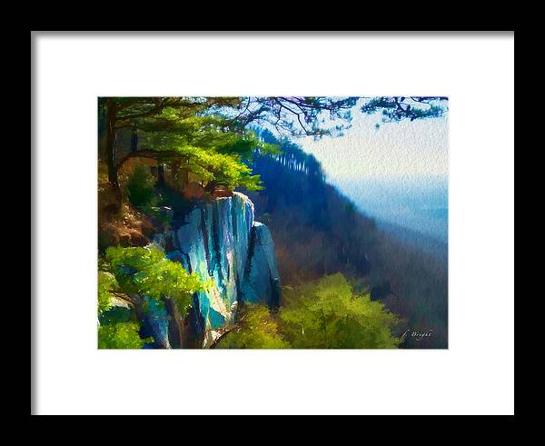 Lookout Mountain Framed Print featuring the photograph Sunset Rock by Frank Bright