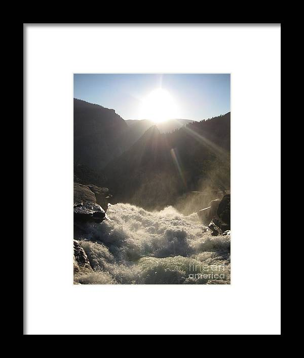 Yosemite Framed Print featuring the photograph Sunwashed Rapids by AC Hamilton