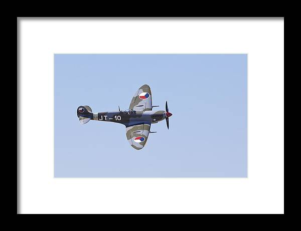 Images In Light Framed Print featuring the photograph Super Marine Spitfire Mk Ix by Ross Murphy