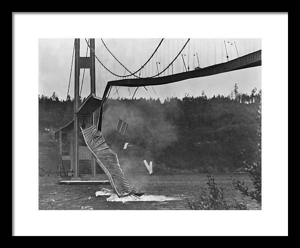 Tacoma Narrows Bridge Collapse by Library Of Congress/science Photo Library