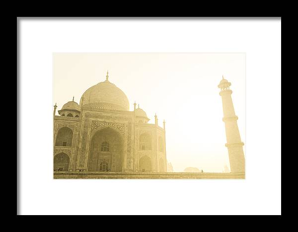 Monument Framed Print featuring the photograph Taj Mahal In The Morning by Brandon Bourdages