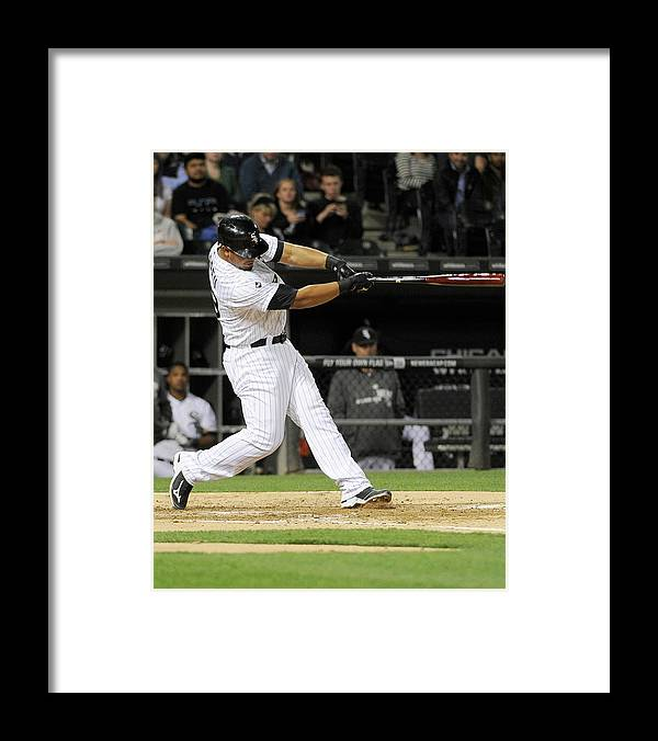 American League Baseball Framed Print featuring the photograph Tampa Bay Rays V Chicago White Sox by David Banks