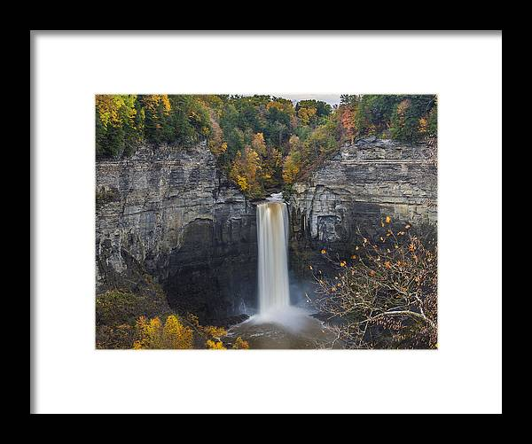 Waterfall Framed Print featuring the photograph Taughannock Falls by Torrey McNeal