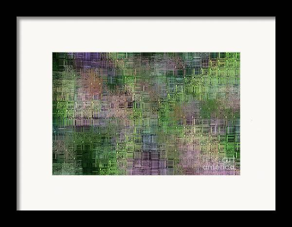 Printed Framed Print featuring the digital art Technology Abstract by Michal Boubin