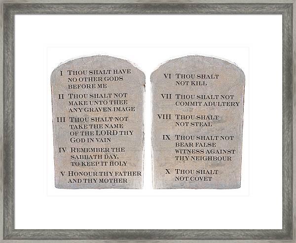 image regarding 10 Commandments Kjv Printable identified as 10 Commandments (kjv) Framed Print