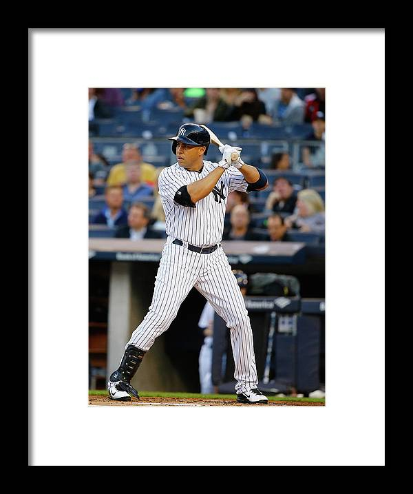 People Framed Print featuring the photograph Texas Rangers V New York Yankees 1 by Al Bello